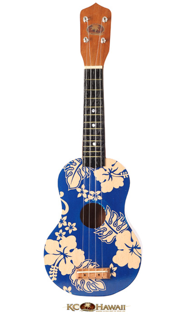 Kc hawaii ukulele imprim hibiscus bleu 60cm 2012 idees for Porte ukulele